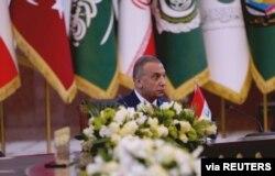 Iraqi Prime Minister Mustafa Kadhimi attends the Baghdad summit in Iraq, Aug. 28, 2021.
