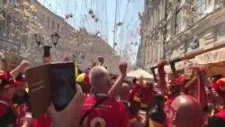 Фанаты Бельгии и Туниса устроили песеннную дуэл