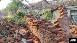 中國遼寧開原2019年7月3日遭受龍捲風後的災情。