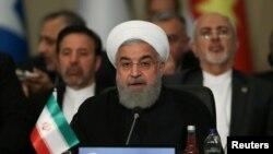 伊朗總統魯哈尼2018年5月在伊斯坦堡出席一個國際會議。(路透社)