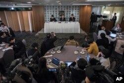 한국으로 망명한 태영호 전 영국주재 북한 공사가 25일 서울 프레스센터에서 외신기자들과 간담회를 가졌다.