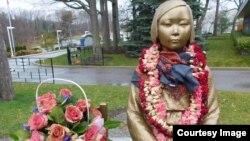 豎立在加拿大的第一座慰安婦雕像。