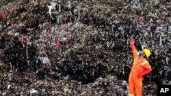 Waste shredder at Holcim's Narogong plant in west Java