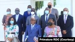 Boko na ba ministres na nsima na likita na Primature, Kinshasa, RDC, 20 novembre 2020. (Primature RDC)