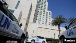禁止化學武器組織人員2018年4月乘坐聯合國專車在敘利亞展開調查(路透社)