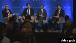 نشست بنیاد دفاع از دمکراسیها با عنوان «حفاظت از منافع آمریکا، دوران جدید قدرت اقتصادی».