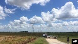 Policija blokira mesto u blizini Lokarta u Teksasu gde se danas dogodila nesreća balona