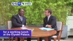 VOA60 Africa - France: President Emmanuel Macron meets with Ivory Coast counterpart Alassane Ouattara