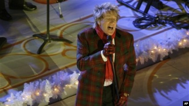 Rod Stewart performing last month at the lighting ceremony of the Rockefeller Center Christmas tree in New York City