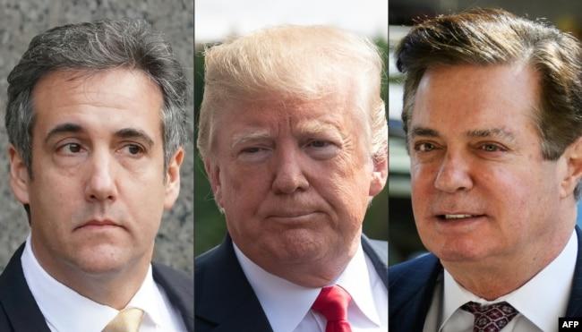 (Soldan sağa) Michael Cohen, Donald Trump, Paul Manafort
