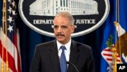 에릭 홀더 미국 법무장관 (자료사진)