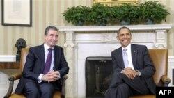 Президент Барак Обама и генеральный секретарь НАТО Андерс Фог Расмуссен. Белый дом. 7 ноября 2011 г.