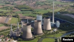 FILE - The four natural-gas power plants 'Gersteinwerk' of Germany's RWE Power, one of Europe's biggest electricity and gas companies near the North Rhine-Westphalian town of Hamm, Germany, May 6, 2015. (REUTERS/Wolfgang Rattay/File Photo)