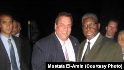 Imom Mustafo El-Amin Nyu-Jersi gubernatori Kris Kristi bilan