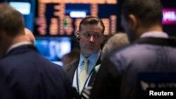 На бирже в Нью-Йорке