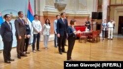 Premijer Srbije Aleksandar Vučić iznosi predlog sastava novog kabineta