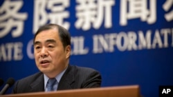 Đặc sứ Trung Quốc tại Triều Tiên Khổng Huyễn Hựu phát biểu trong một cuộc họp báo tại Văn phòng Thông tin Quốc Vụ Viện ở Bắc Kinh, ngày 26 tháng 1, 2018.