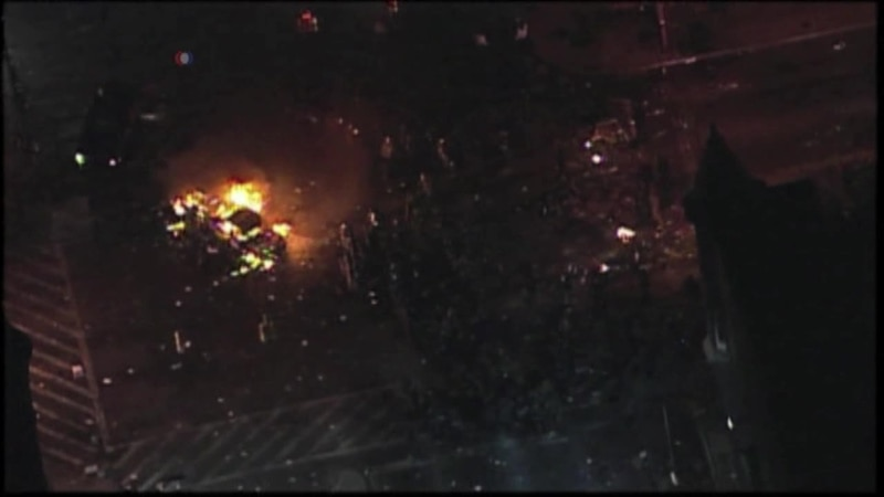 Raw Video: Scenes From Monday's Riots in Baltimore