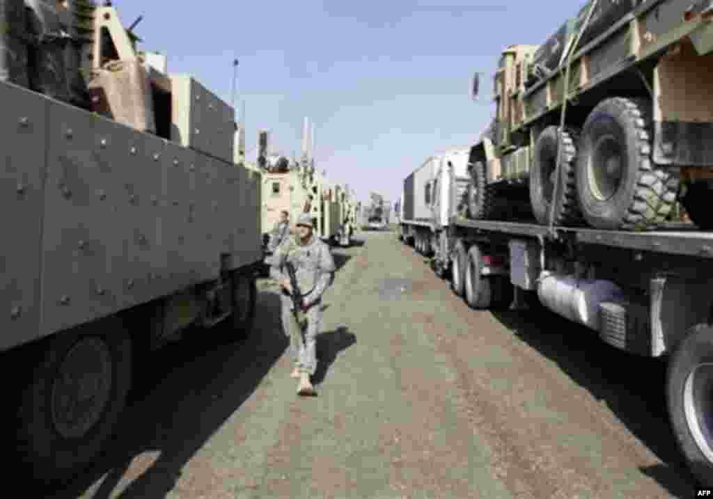 Amerikan Askerleri Irak'tan Çekildi