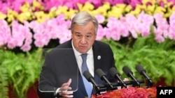 聯合國秘書長古特雷斯在中非合作論壇講話(法新社照片)