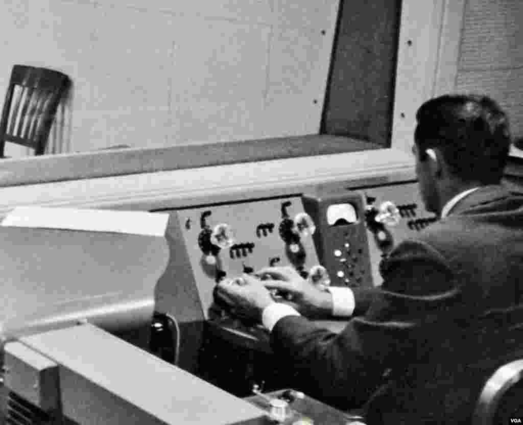 Early radio control room technician.