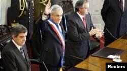 El presidente Sebastián Piñera pronunció su discurso anual ante el Congreso, en Valparaíso.
