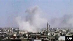 Dim iznad sirijskog grada Humsa, jednog od žarišta pobune protiv vlade predsednika Bašara al-Asada