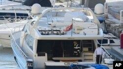 "Kapal pesiar ""Gio"" milik pengusaha terkemuka Malta Yorgen Fenech, digeledah pihak berwenang Malta, Rabu pagi, 20 November 2019."