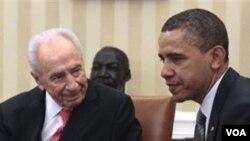 Los presidentes Peres y Obama hablaron sobre el proceso de paz entre Israel y palestina.