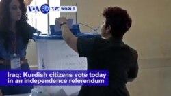 VOA60 World - Iraq: Kurdish citizens vote today in an independence referendum