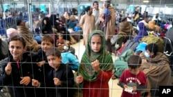 کمپ تخلیه شدگان افغان در پایگاه نظامیان امریکایی در شهر رامشتاین آلمان
