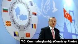 Turski predsednik Redžep Tajip Erdogan na otvaranju Konferencije načelnika generalštaba balkanskih zemalja, 11. maj 2016.