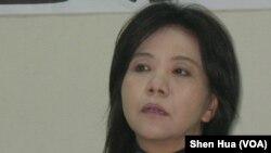 民进党立委叶宜津2月22日在立法院 美国之音申华拍摄)