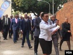 Umsekeli kamongameli uRetired General Constantino Chiwenga usemagcekeni aweZITF.