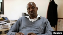 """FILE - Former Olympic champion Noah Ngeny, shown during an interview in Nairobi in March 2016, says forcing """"special"""" drug tests upon Kenyan Olympic athletes """"does not sit well."""""""