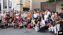 上海維權人士每周一集体上訪,要求維護公民訴訟權