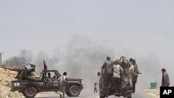 Les rebelles libyens à Al-Qawalish
