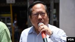 香港支聯會主席何俊仁 (美國之音湯惠芸拍攝)