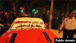 توقیف یک خودروی لوکس توسط نیروی انتظامی