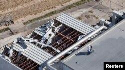کینیڈی خلائی سنٹر کی چھت طوفان سے متاثر ہوئی