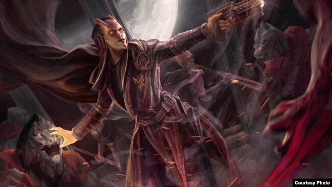 Tác phẩm Thiên thần Phán quyết - Celestial Arbiter của họa sĩ Anh Lê. Photo by Anh Le