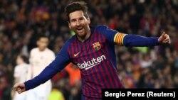 Dan wasan kungiyar Barcelona, Lionel Messi.