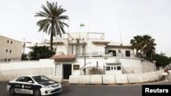 سفارت عربستان سعودی در بغداد که مسدود است