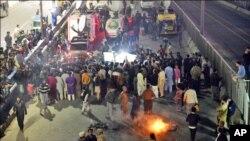 ساہیوال واقعے کے خلاف عوامی مظاہرے کا ایک منظر