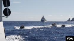 台日船隻7月4日在釣魚島海域對峙