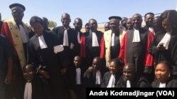 Les magistrats du Tchad en colère, à N'Djamena, le 19 septembre 2020. (VOA/André Kodmadjingar)