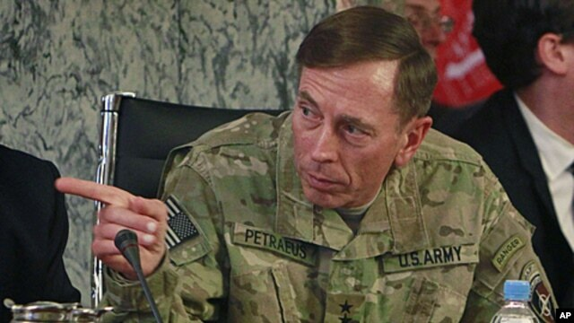 US General David Petraeus, the top NATO and US commander in Afghanistan during a meeting of the International Contact Group for Afghanistan in Kabul, Afghanistan, June 27, 2011