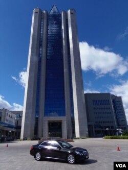 位於莫斯科的俄羅斯天然氣工業公司總部大樓。(美國之音白樺攝)