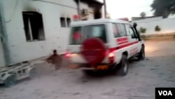 아프가니스탄 쿤두즈의 '국경없는 의사회' 병원 앞에 구급차가 보인다. (자료사진)