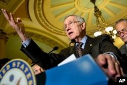 FILE - Senate Minority Leader Harry Reid